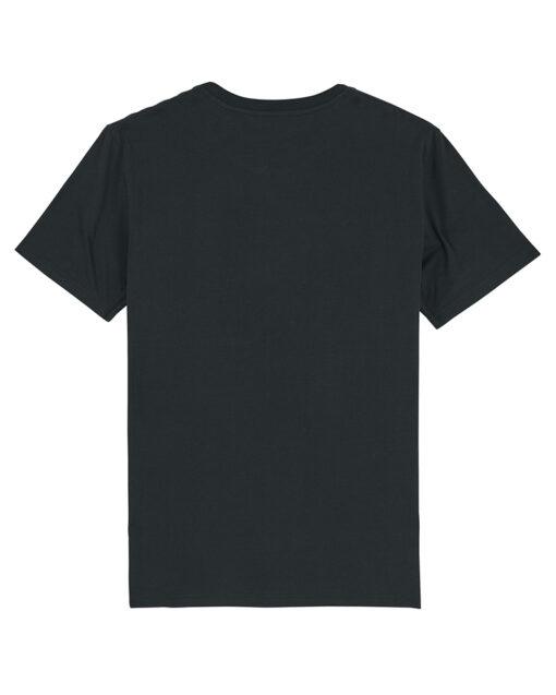 ORGANIC BLACK T-SHIRT BACK VIEW