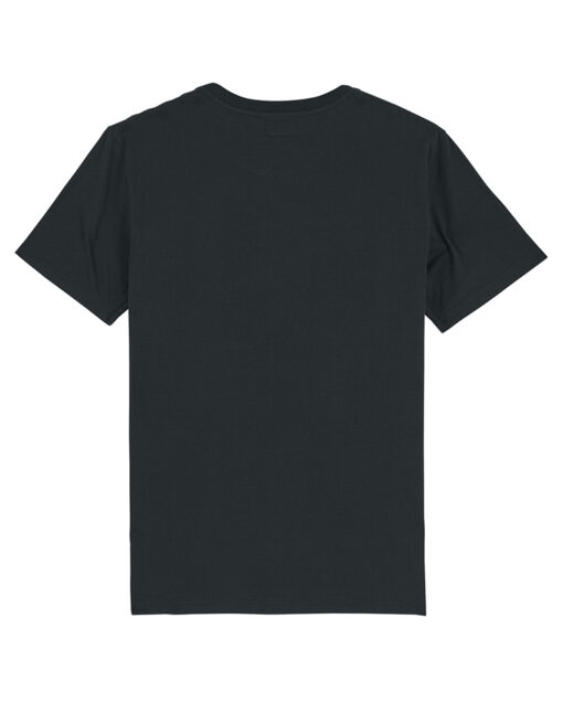 ORGANIC COTTON BLACK T-SHIRT BACK VIEW
