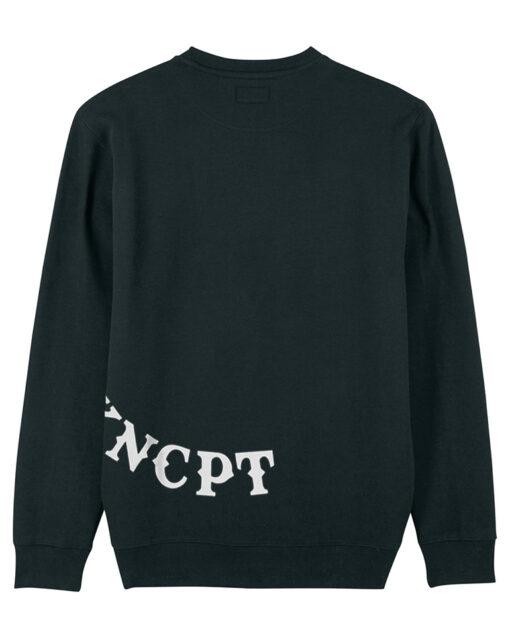 fett koncept biker sustainable black sweater back view