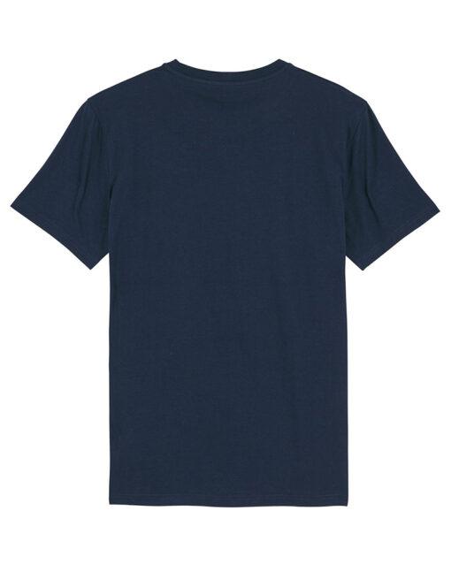 navy t-shirt organic cotton back view