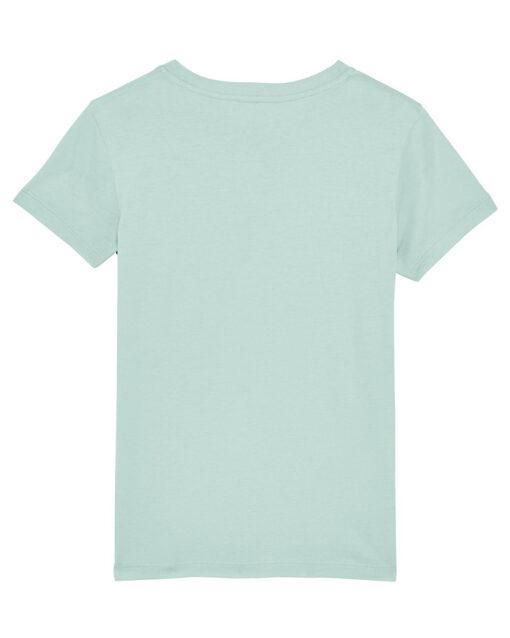 caribbean blue organic cotton kids t-shirt back view